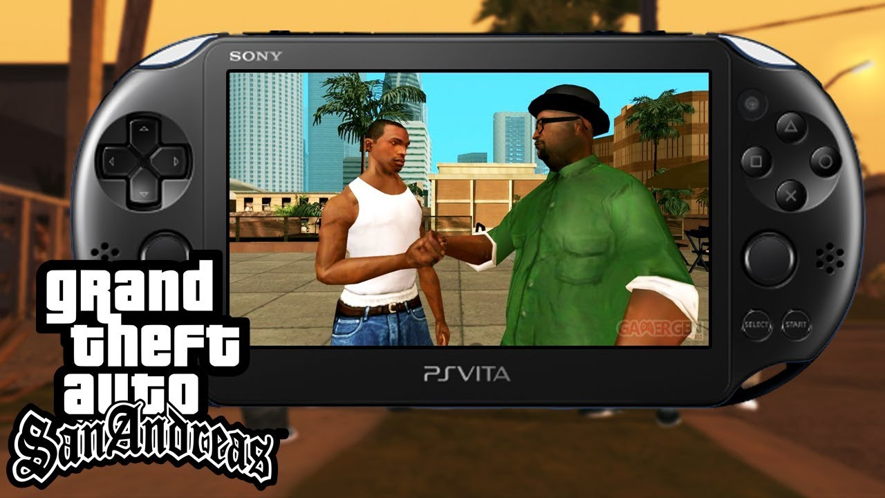 Grand Theft Auto San Andreas Sur Ps Vita Gameplay Test Portage Unity Gta Psvita Homebrew Lien Vpk Youtube