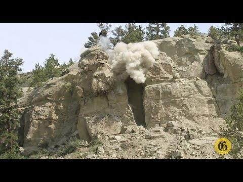 Monkey Face Rock decapitated by giant explosion