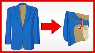 3 Jacket Folding Hacks (No Wrinkles or Damage) Fold Your Suit Coat CORRECTLY | RMRS