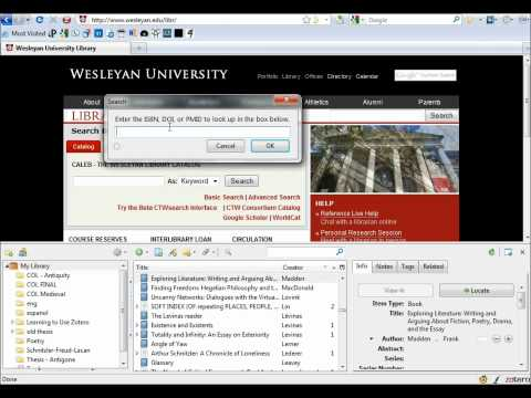 3. Zotero and Your Thesis: Adding Book Sources by ISBN