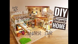 dIY 3 in 1 Miniature Container Home in Japanese Style with Music and Light