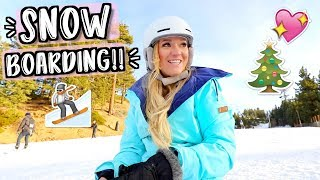 FINALLY Going Snowboarding!! Vlogmas Day 18!!