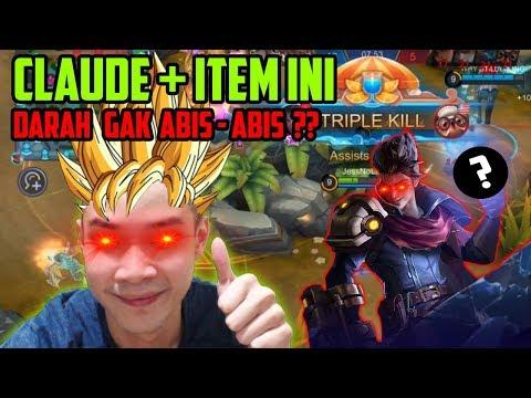 CLAUDE + ITEM INI DARAHNYA GAK ABIS2?? META BARU TOP 1 GLOBAL CLAUDE?? - Mobile Legends