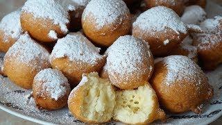 БЫСТРЫЕ ПОНЧИКИ ФРИТУЛЕ без дрожжей/Donuts Fritule