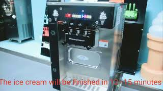 Oceanpower soft serve ice cream/ frozen yogurt making machine: OP132BA