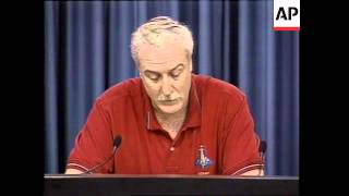 NASA briefing on Columbia shuttle disaster