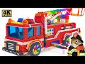 DIY - Fire Truck Build Largest Fire Truck Manufacturer Hamster Form Magnetic Balls Satisfying