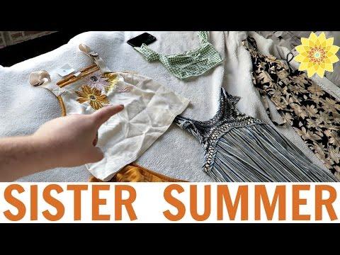 CLOTHING HAUL, FOOD HAUL, & MOVIE NIGHT   SISTER SUMMER