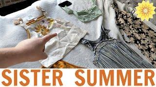 CLOTHING HAUL, FOOD HAUL, & MOVIE NIGHT | SISTER SUMMER