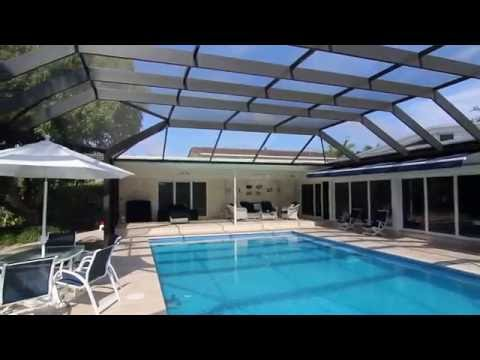 Screened Pool Enclosure in North Miami, 175 mph wind code -  Venetian Builders