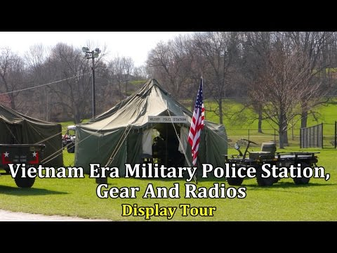 Vietnam Era Military Police Station, Gear And Radios | Display Tour