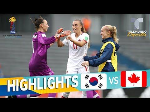 República de Corea vs. Canadá: 0-2 Goals & Highlights | Mundial Femenina Sub-17 | Telemundo