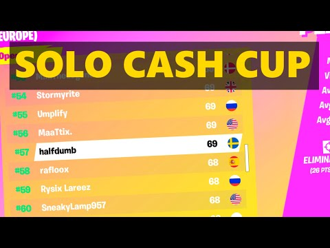 How I Placed 57th In Fortnite's Solo Cash Cup