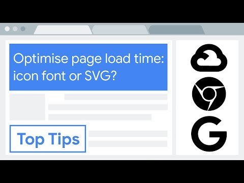 Optimise Page Load Time: Icon Font Or SVG?