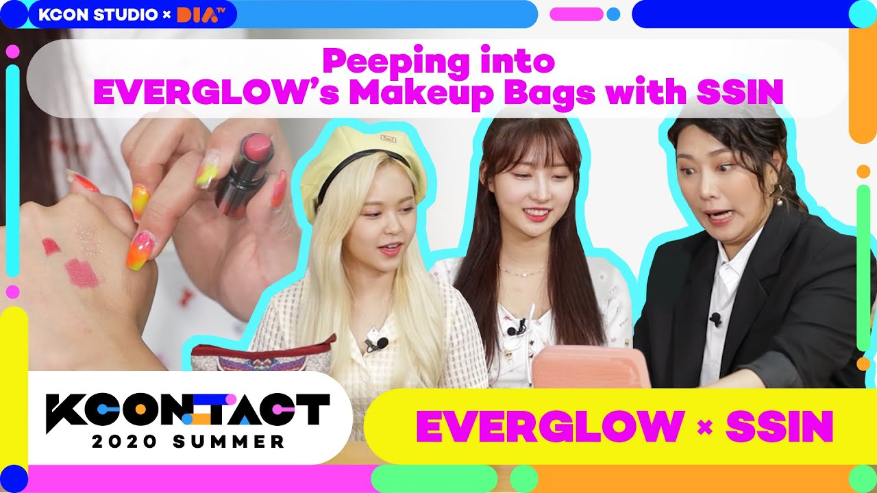 Download [KCON STUDIO X DIA TV] Peeping into EVERGLOW's Makeup Bags with SSIN   에글이의 파우치를 열어라 with 씬님
