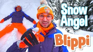 Blippi | Learn to Make a Snow Angel + MORE ! | Song for Kids | Educational Videos for Kids
