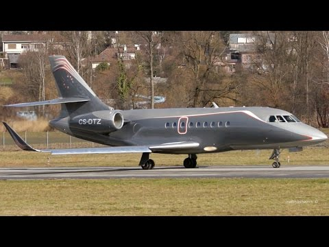 Cool Looking Dassault Falcon 2000 Take-Off at Bern Airport
