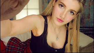 ASMR - I'll take YOU to BED!♥ - DIFFERENT ITEMS face MASSAGE!