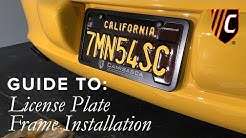 How to Install a License Plate Frame the RIGHT Way? | CAM Inc.