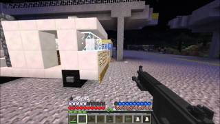 The infected Crafting Dead Minecraft roleplay E4 S1 Getting shot down