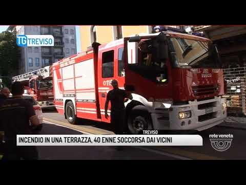 TG TREVISO (21/08/2017) - INCENDIO IN UNA...
