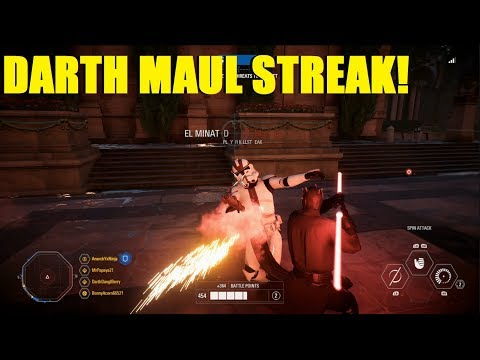 Star Wars Battlefront 2 - Fast Spawn Event makes Maul HAPPY! HUGE Darth Maul Killstreak! thumbnail