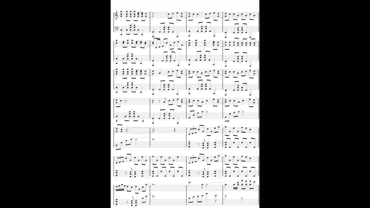 RADWIMPS/前前前世 フル楽譜 中級ver keyC ピアノソロVer -your name- zen ...