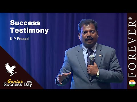 Business Testimony by K P  Prasad at Guntur Success Day