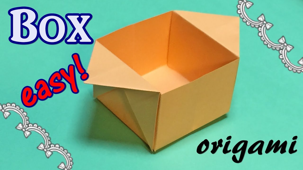 Easy Origami Box With A4 Paper Tutorial Origami Handmade