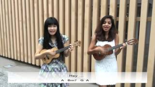 Hey Soul Sister - ukulele cover by Yiqing & Deepthi - with Tab