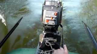 FISHER 2,5T пробный выезд на лодке BARK