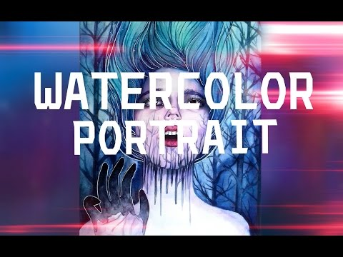 how to draw a watercolor portrait