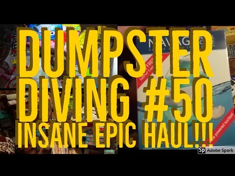 Dumpster Diving #50 INSANE haul of crazy stuff we found a brand new safe!!