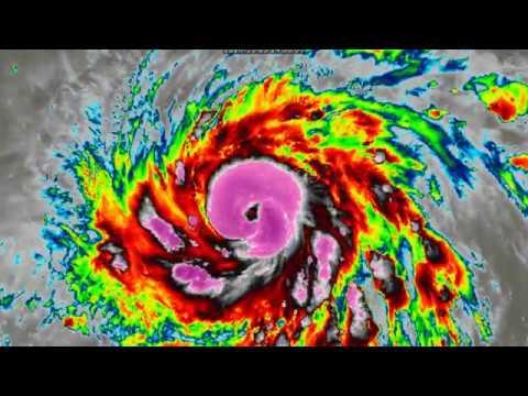 Typhoon Yutu intensifies - 1am CHST Oct 23, 2018