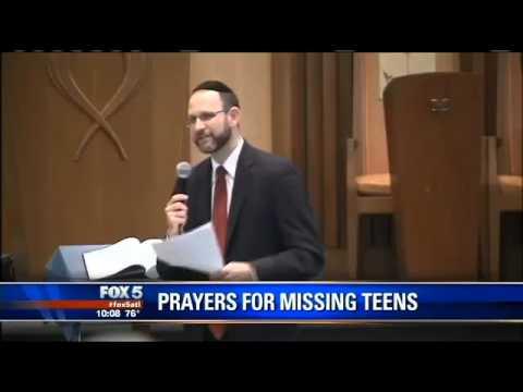 Vigil For Missing Israeli Teens In Atlanta