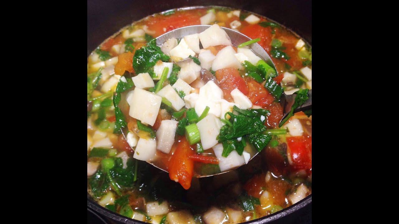 Tomato And Tofu Soup Canh Ca Chua Dau Hu - YouTube