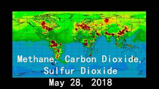 Methane, Carbon Dioxide, Sulfur Dioxide - weekly update (May 28, 2018)