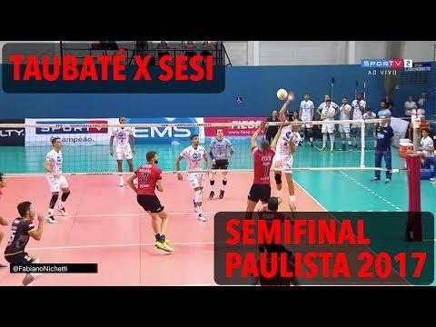 Taubaté x Sesi - Semifinal - Campeonato Paulista de Vôlei Masculino 2017