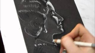 Portrait of Queen Elizabeth The Queen Mother-Speed sketch (pastel drawing)