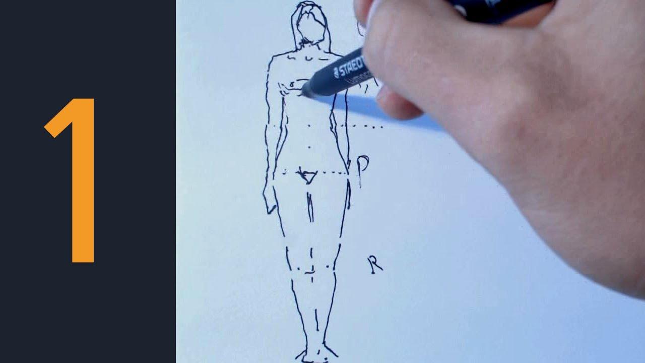 Cmo dibujar Figura Humana 1 mtodo divertido  YouTube