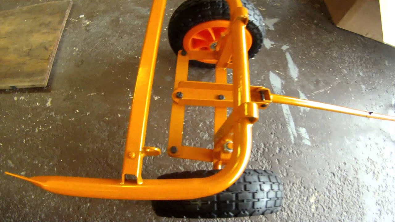 new worx aero cart wheel barrow - YouTube