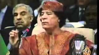 مشادة كلامية بين المجنون معمر القذافي وملك السعودية