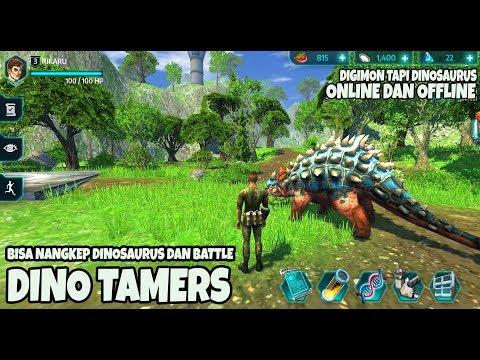 OFFLINE  Openworld Mirip Digimon - DINO TAMERS ANDROID GAMEPLAY
