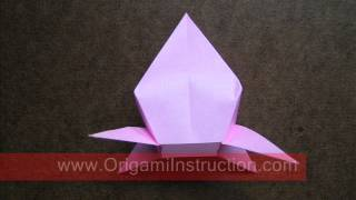 How To Fold Origami 3d Peach   Origamiinstruction Com
