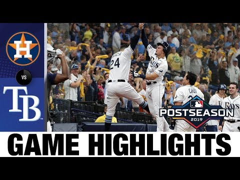 Rays' big 1st inning leads to Game 4 win vs. Astros   Rays-Astros ALDS Game Highlights