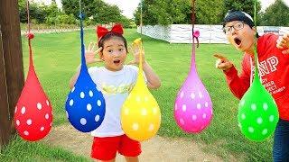 인기동요놀이 영어배우기! بو لا يلعب بالونات ملونة