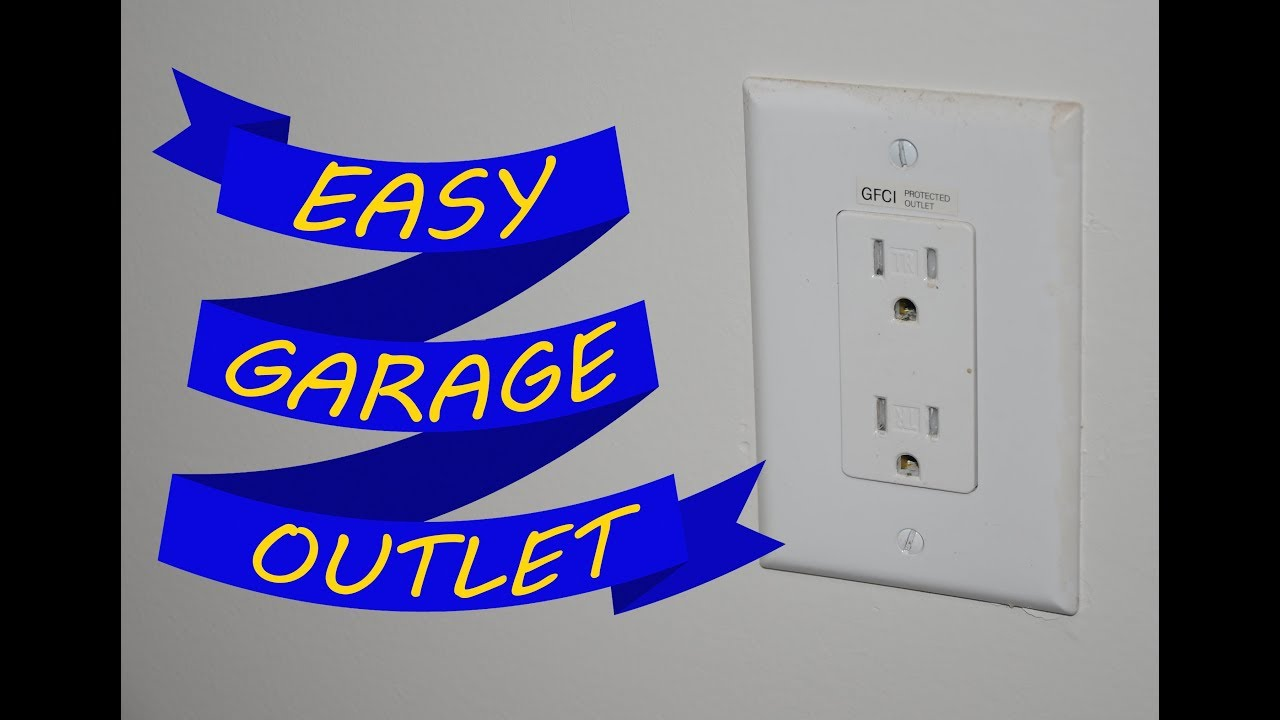 Add A Garage Outlet With Little Or No Wiring Quick Tip Youtube After Rewiring The To Gfci And Two Light Switches Premium