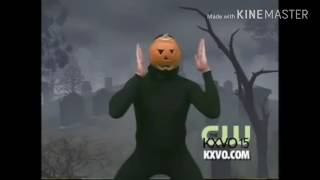 Pumpkin guy dances to charger