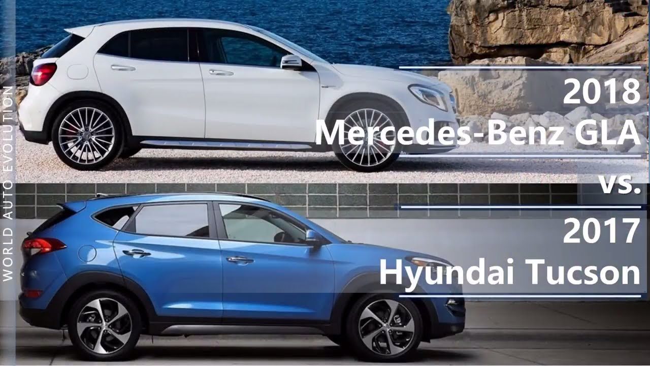 Tucson Dimensions 2017 >> 2018 Mercedes Benz Gla Vs 2017 Hyundai Tucson Technical Comparison