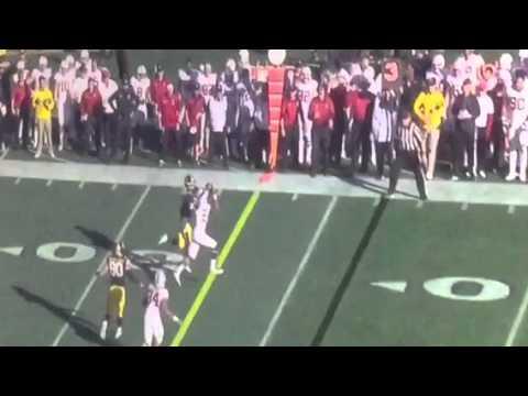 Stanford's Clinton Meeks Pick-Six Cardinal 21 Iowa 0 Rose Bowl